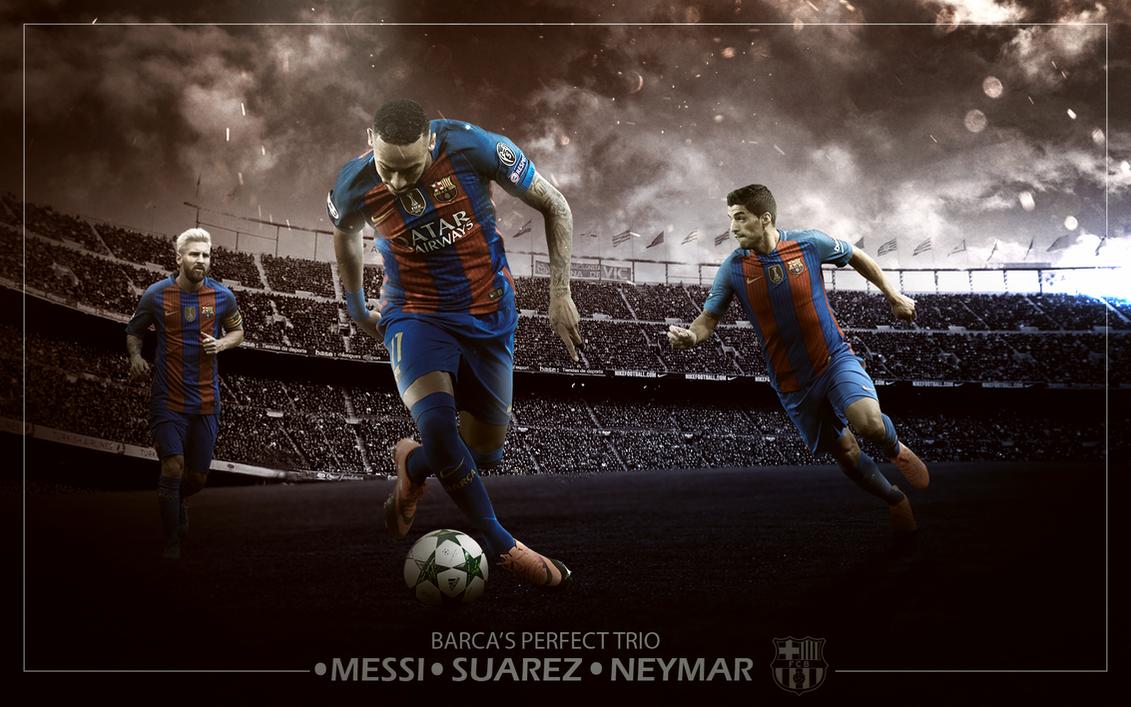 Messi Suarez Neymar Wallpaper MSN By ChrisRamos4
