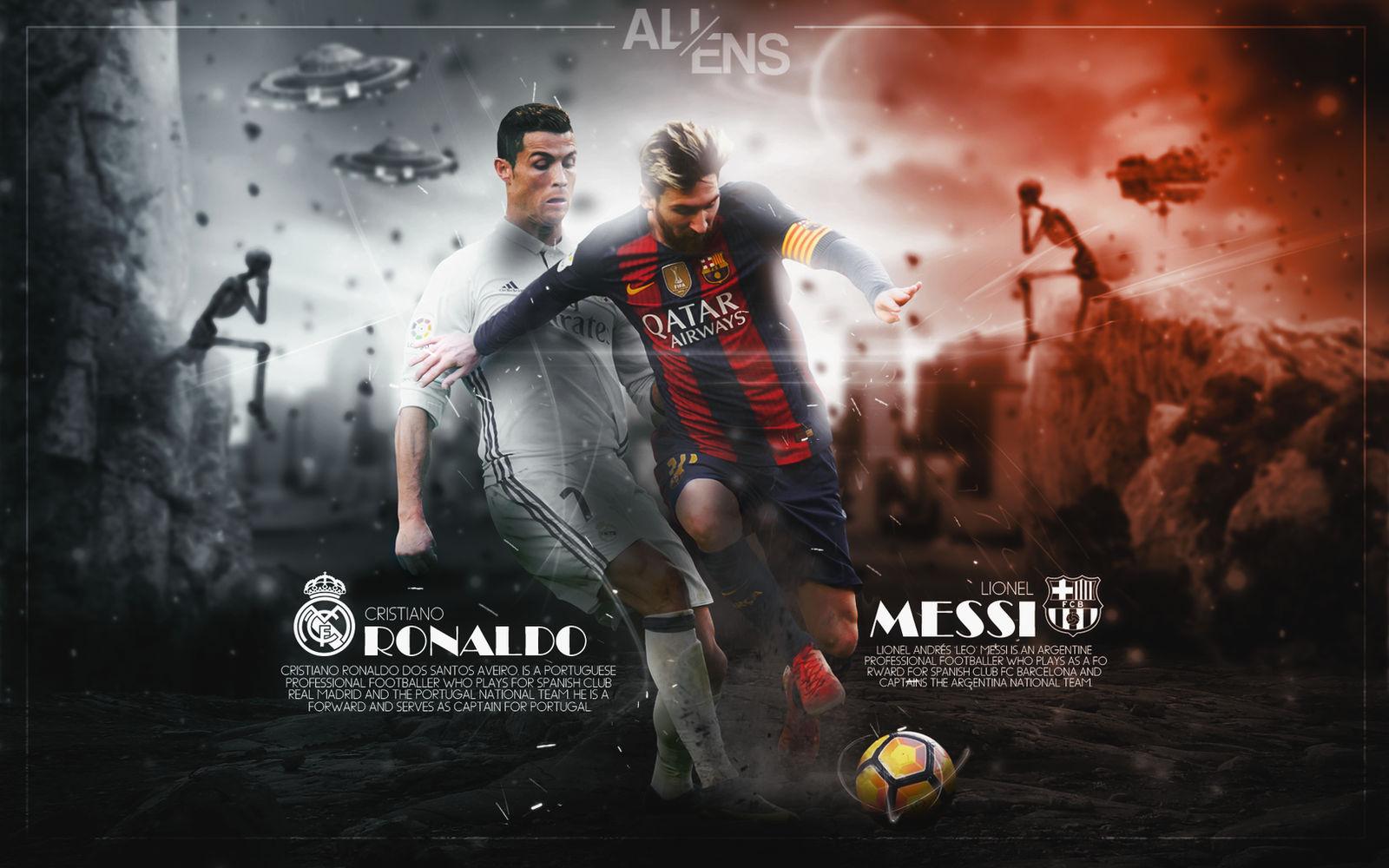 Cristiano Ronaldo And Lionel Messi Wallpaper By