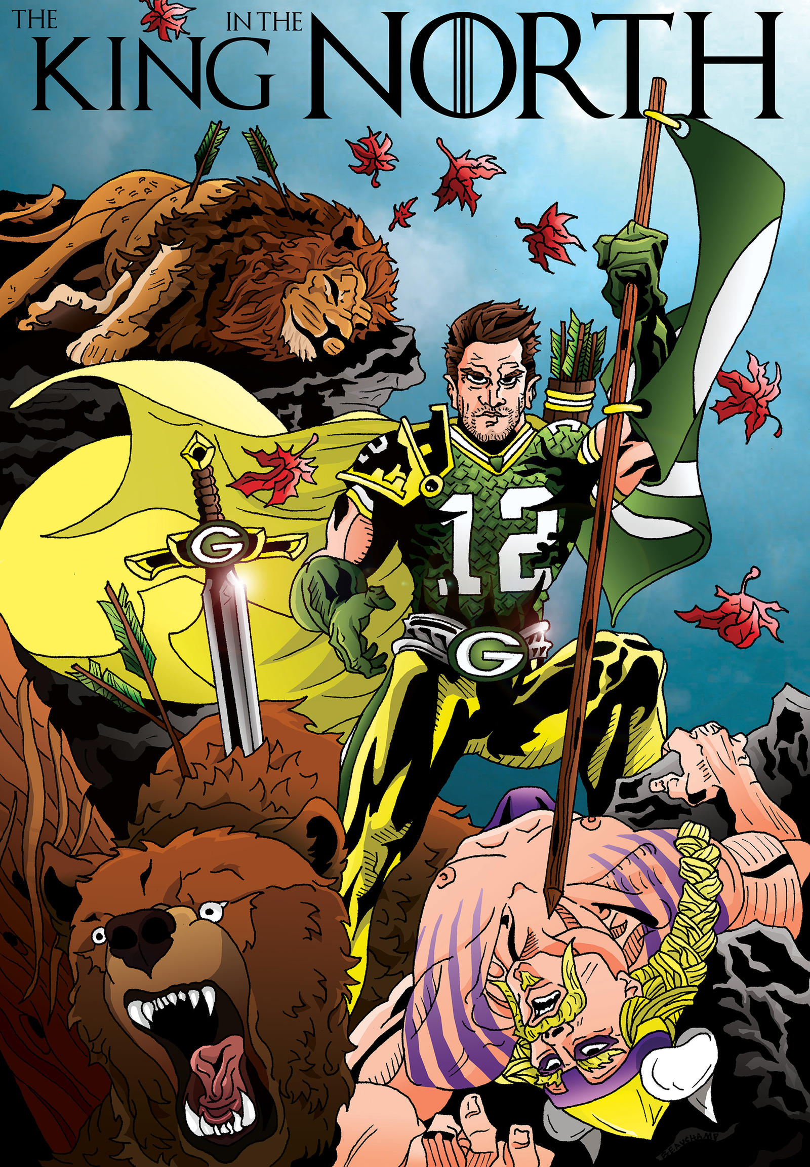 aaron_rodgers_king_in_the_north_by_beauchal d5plzx3 post nfc north championship meme thread greenbaypackers
