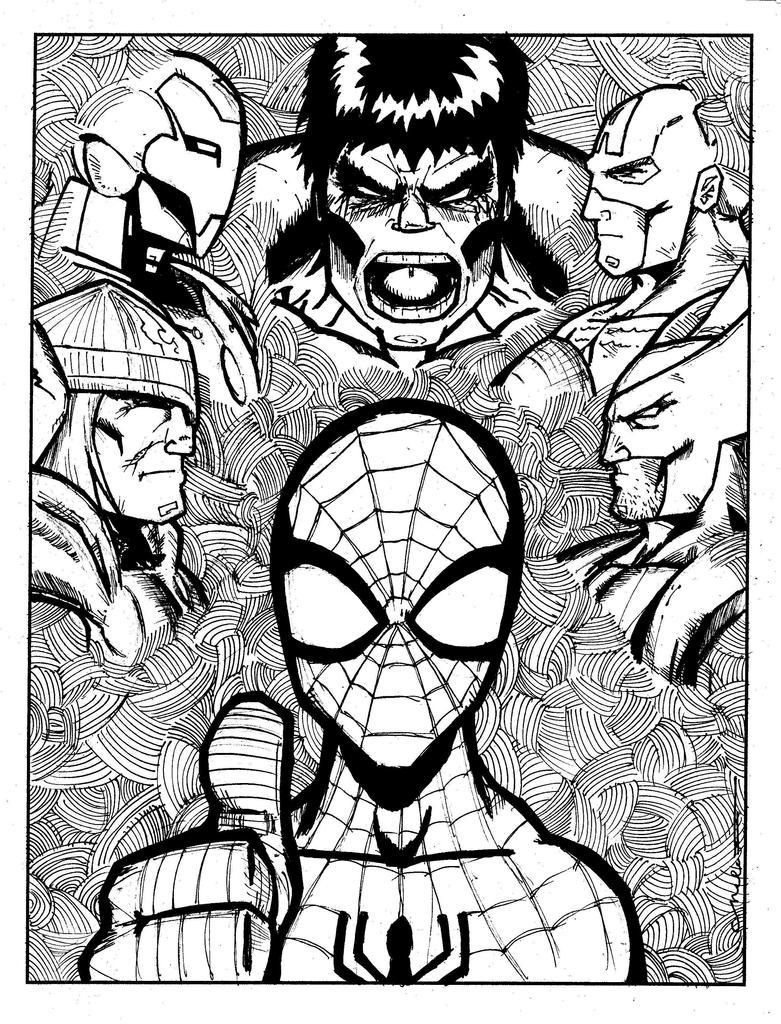 Avengers Sketch By Norbyela On DeviantArt