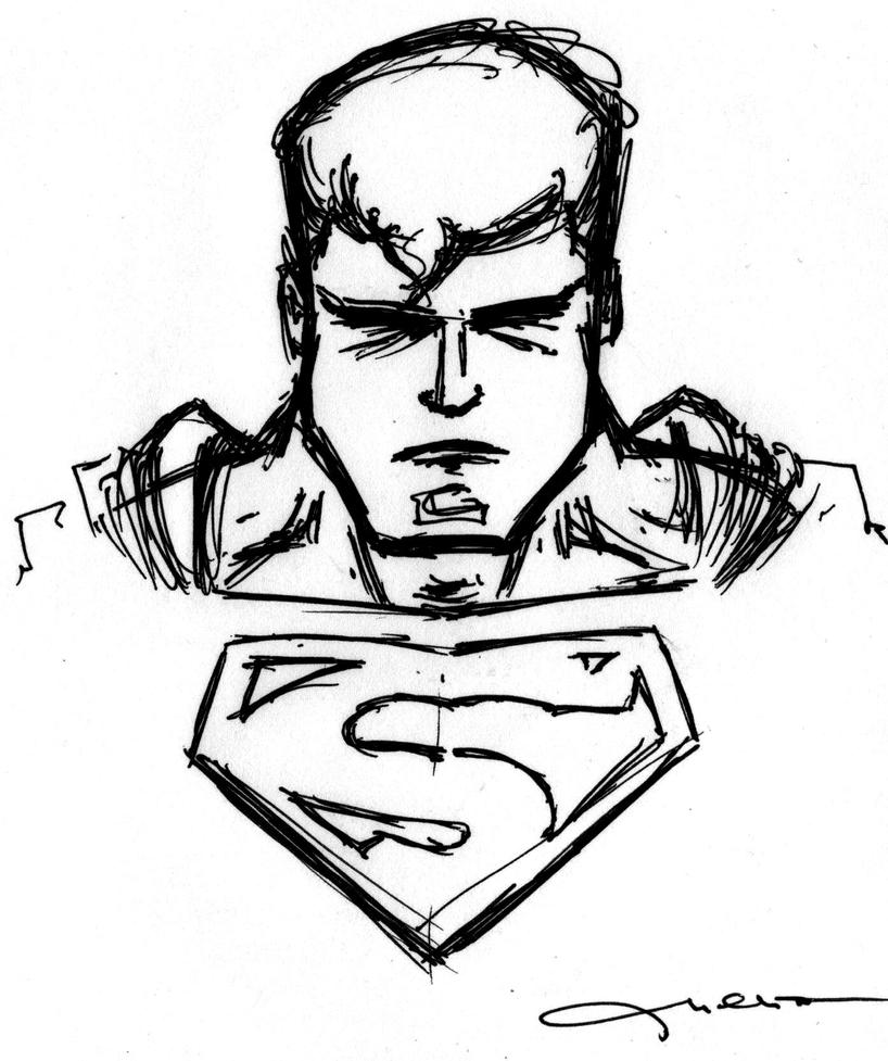 Superman Face Drawing Superman