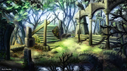 A place of ancient legends  by xKyrillx