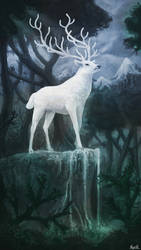 White Stag by xKyrillx