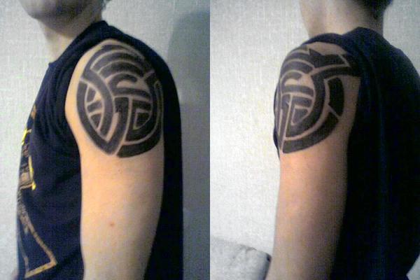 shoulder circle tribal - shoulder tattoo