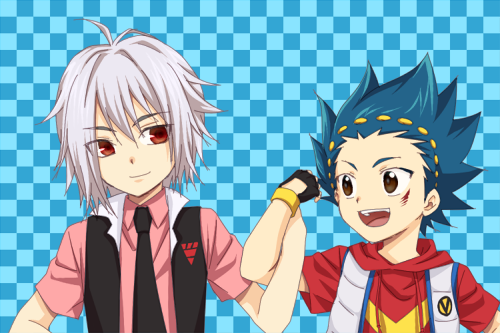 Shun and Aoi Bart From Beyblade Burst by StarlightGlimmer17