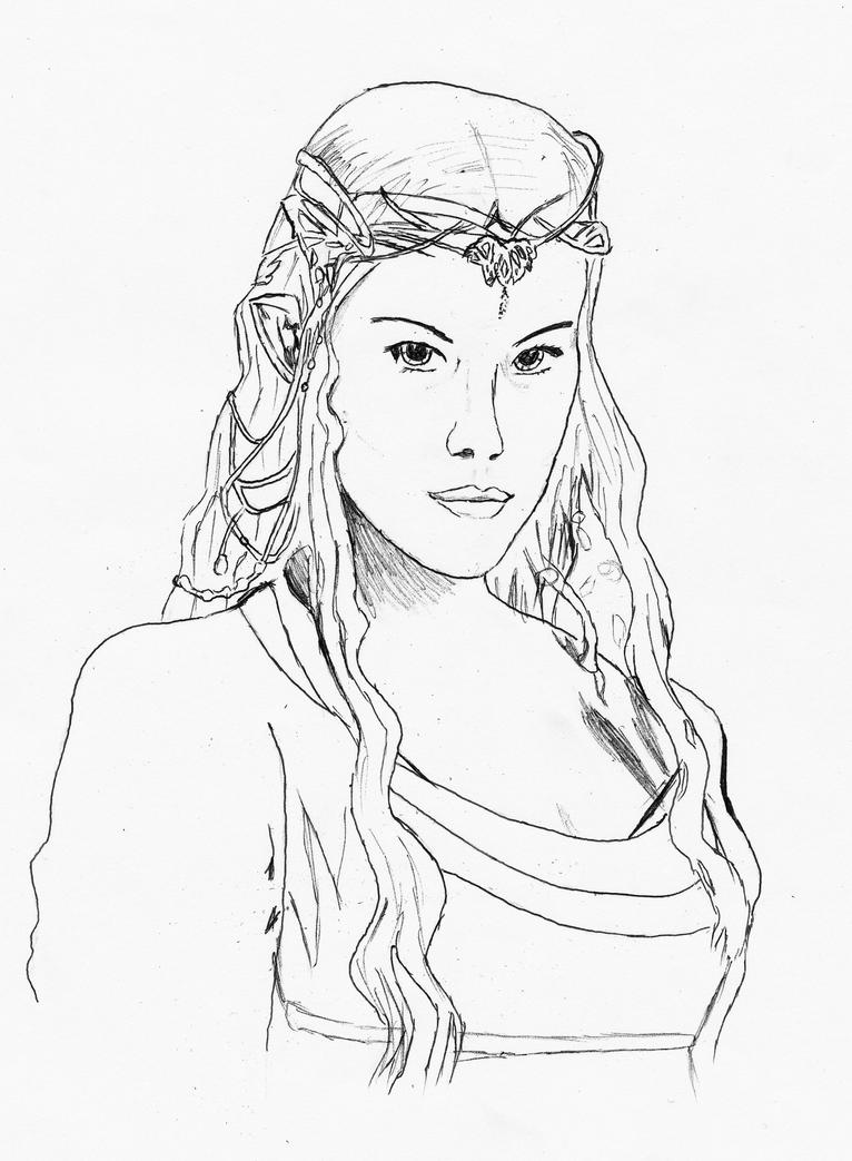 Arwen OLD lineart by Valkyrie26 on DeviantArt