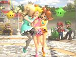 Get Away From My Girl!! Peach X Daisy X Rosalina