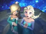 Let it Go!! Rosalina X Elsa by Hanxulz