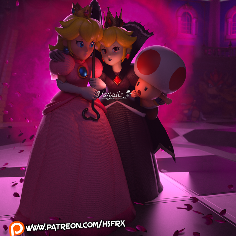 Peach and Shadow Queen