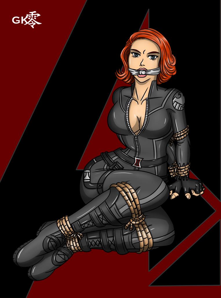 Scarlett Johansson Black Widow Gagged - Bing images