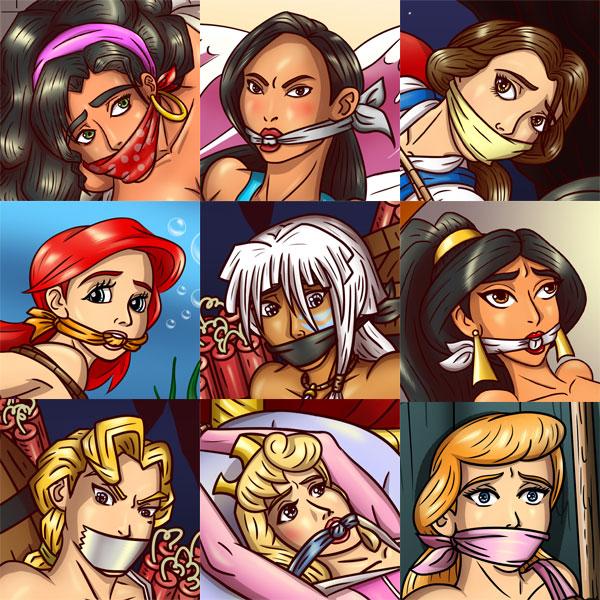 Cartoon Character Set by geekling