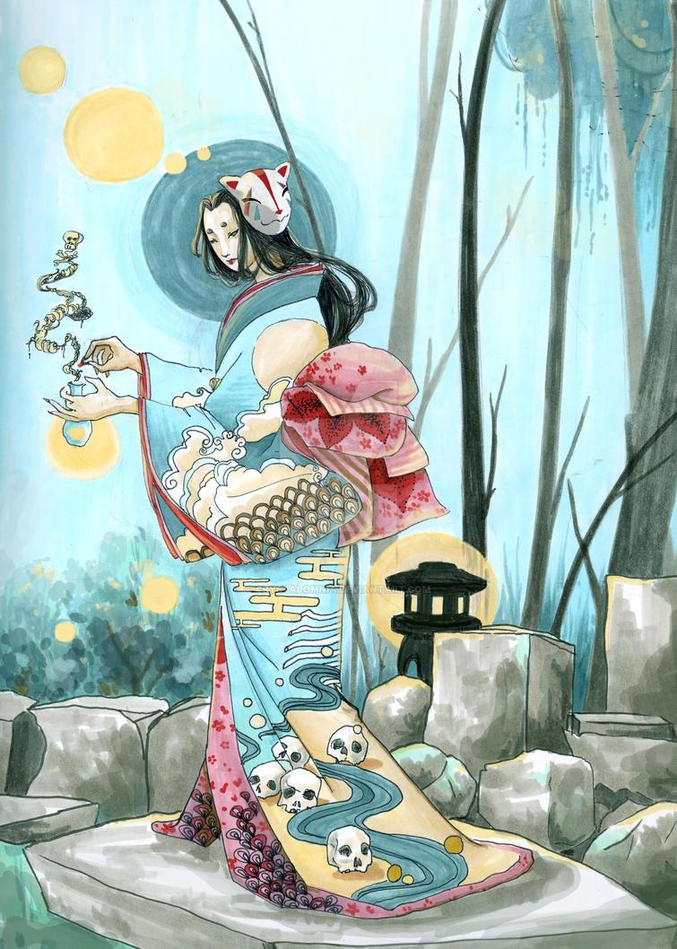 Tamamo no Mae by crystalomnia