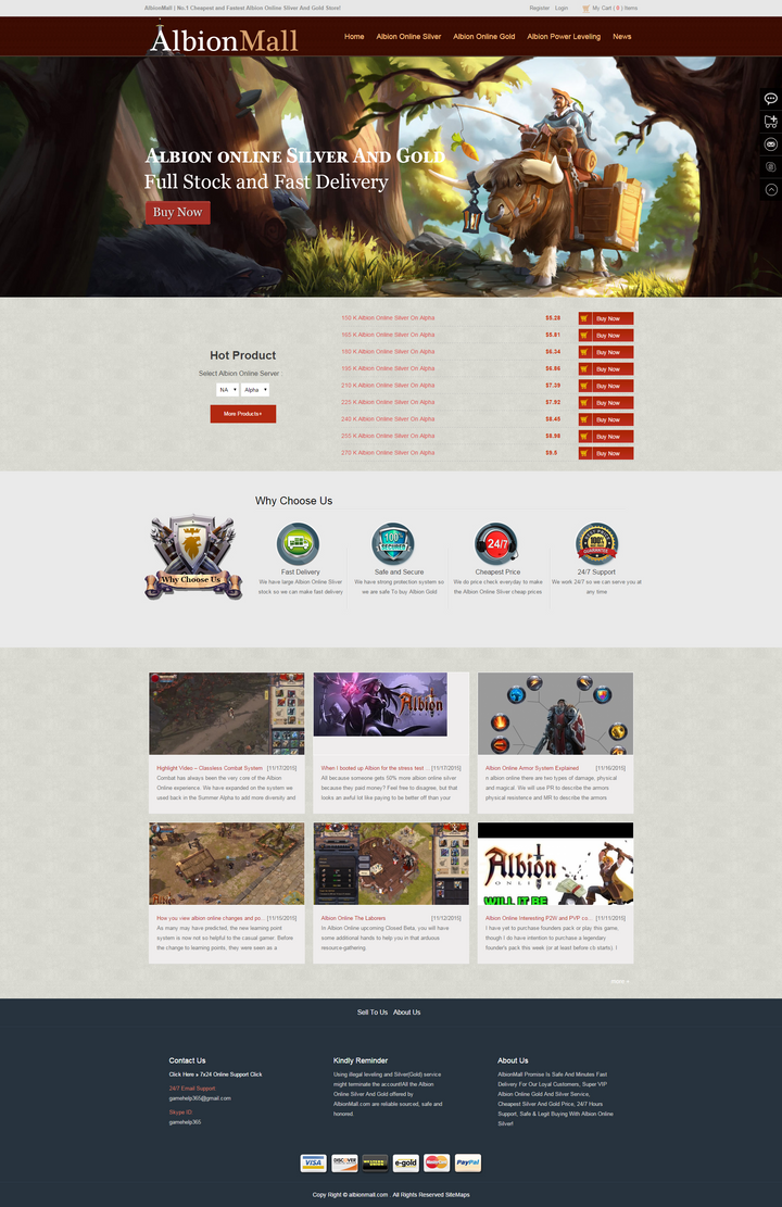 AlbionMall  Buy Albion Silver, Cheap Albion Online by albionmall