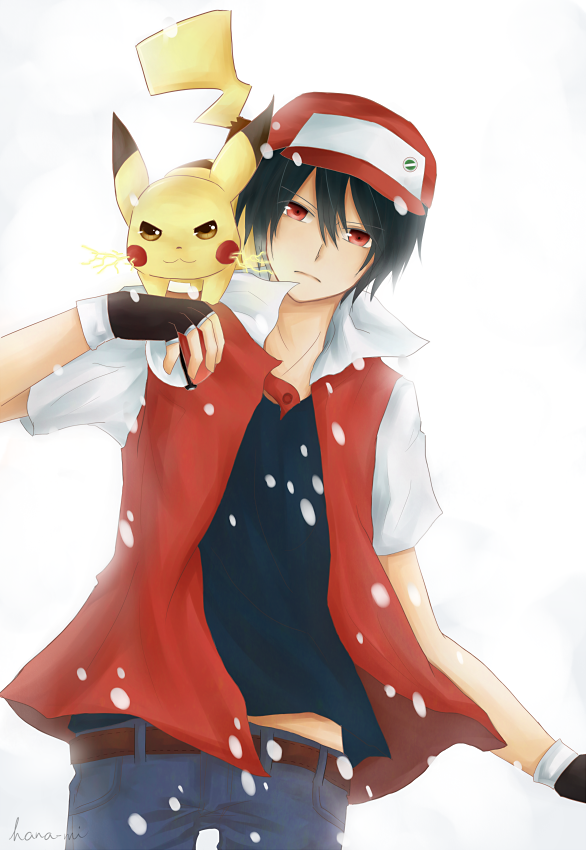 Pokemon Trainer Red by frozenblume
