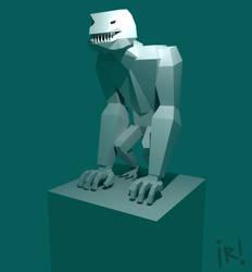 Giant Monster Alien - Lowpoly by Corkhead
