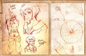 Concept sketches: Mina