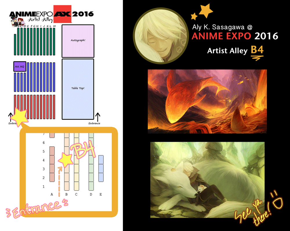 Anime Expo 2016: Artists Alley Table B4 by ruina