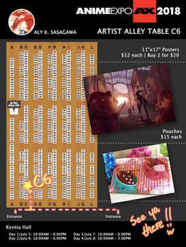 Anime Expo 2018: Artist Alley Table C06