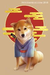 Samurai Shiba by ruina