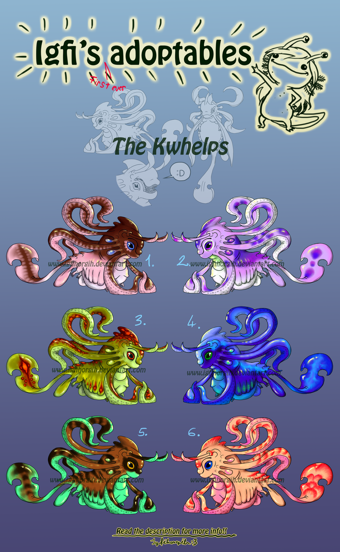 Adoptables (PAYPAL only) - Kwhelps (6/6 open) by Igfihorgih