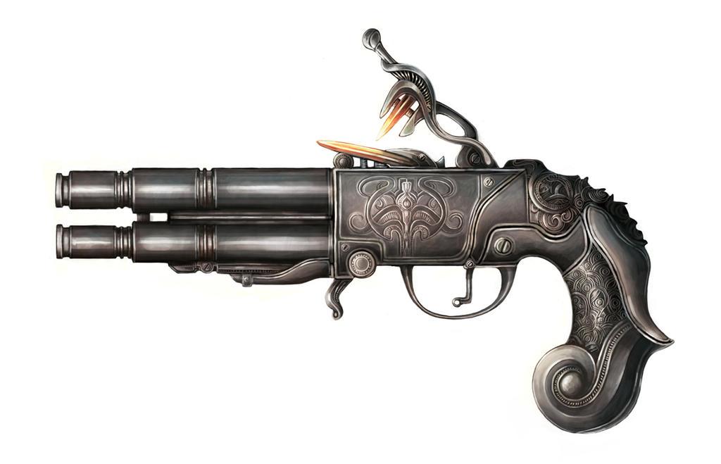 Fantasy Pistol 01 by TypoCity