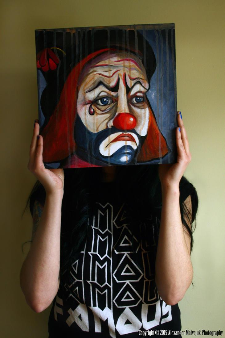 Sister Sad Clown by numb1