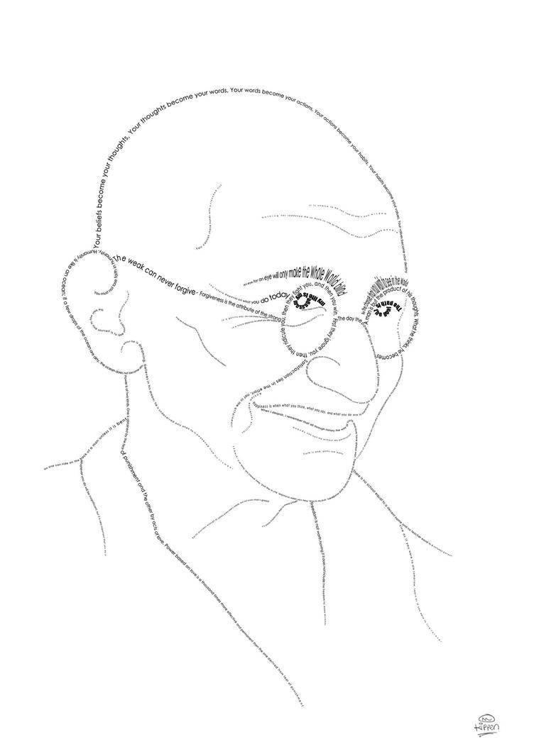 gandhiji standing coloring pages - photo#20