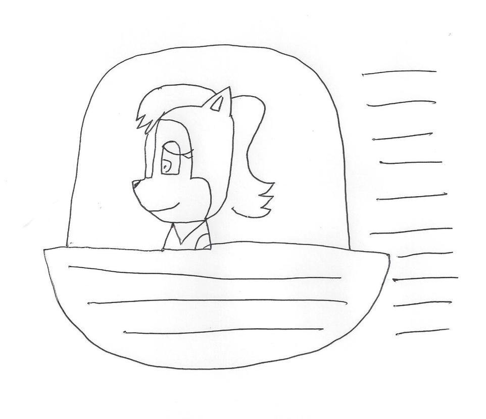 Sally Acorn in a spaceship by dth1971