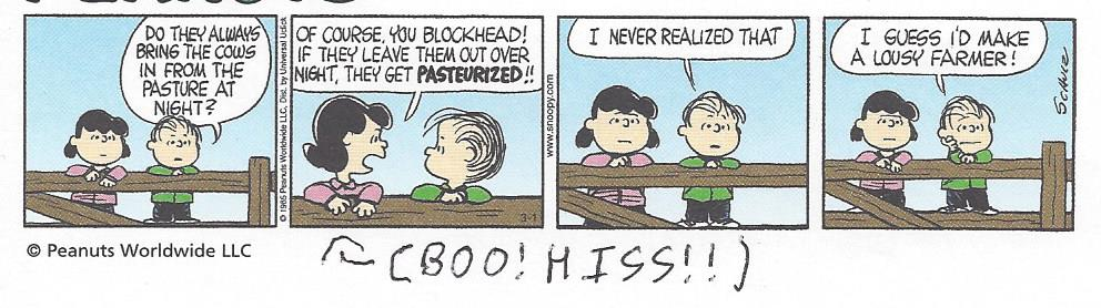 BOO and HISS on a circa 1961 Peanuts comic strip by dth1971