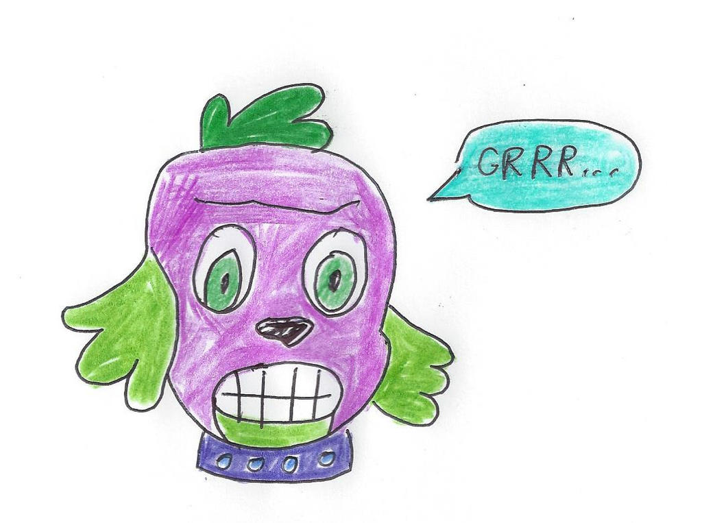 Mean Spike Dog My Little Pony  Equestria Girls by dth1971 on