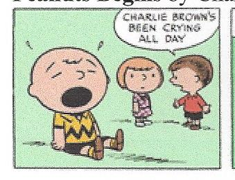 Charlie Brown's been crying all day by dth1971