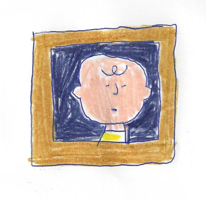 Charlie Brown in a picture frame by dth1971