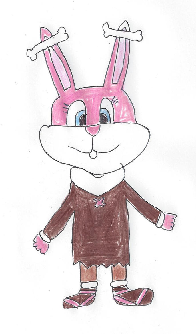Babs Bunny dressed for the Ice Age by dth1971