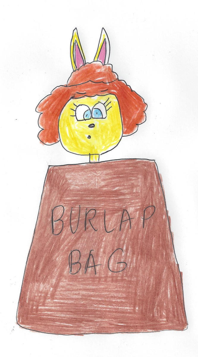 Tammy trapped inside a burlap bag by dth1971