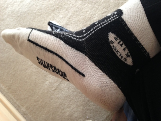 Silly Sneaker Sock by dth1971