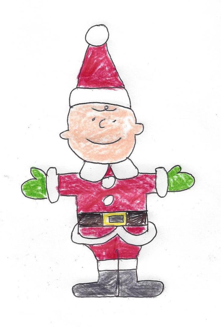 Charlie Brown in a Santa Claus suit by dth1971