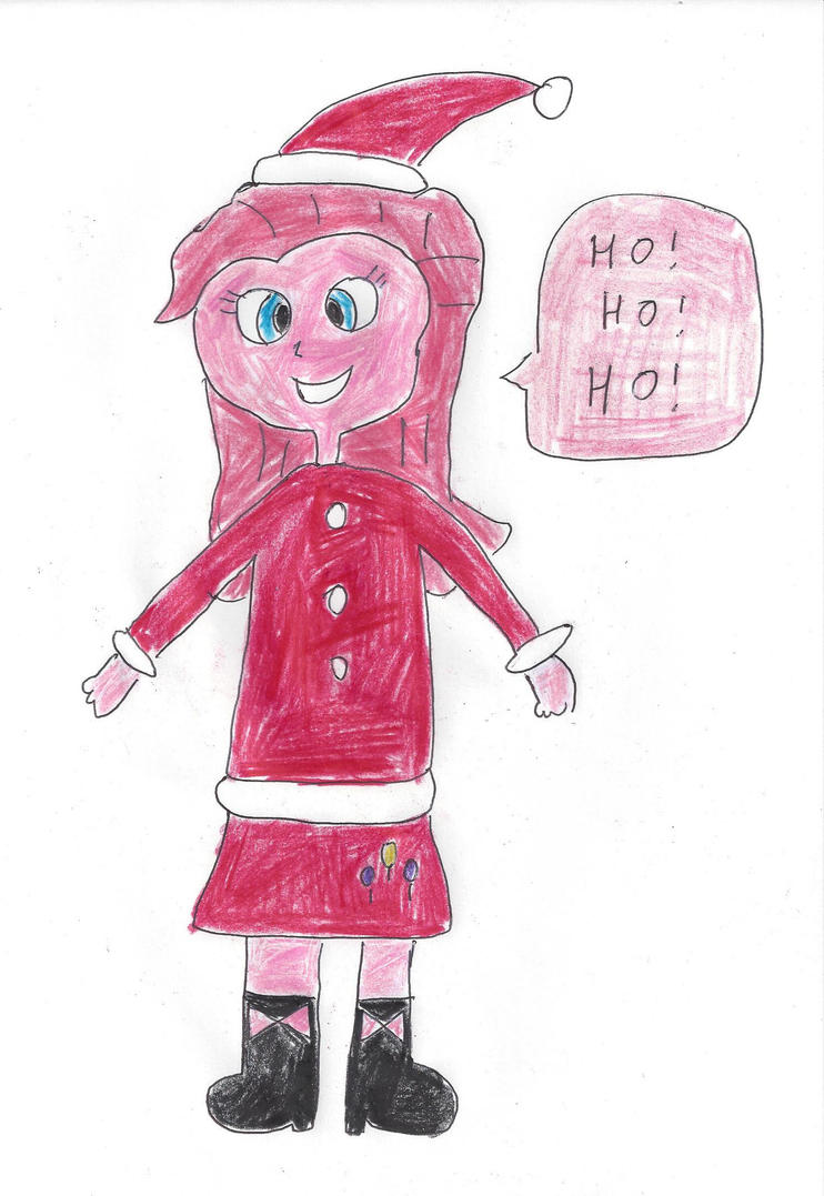 Santa Girl Pinkie Pie by dth1971