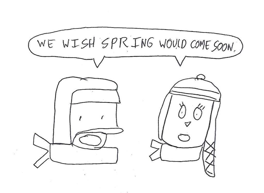 Norm and Bridget wish about Spring by dth1971