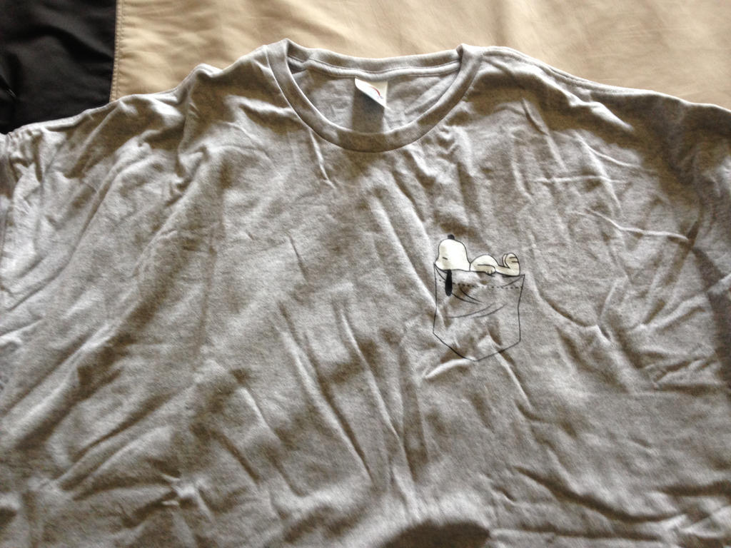 Snoopy pocket T-shirt by dth1971