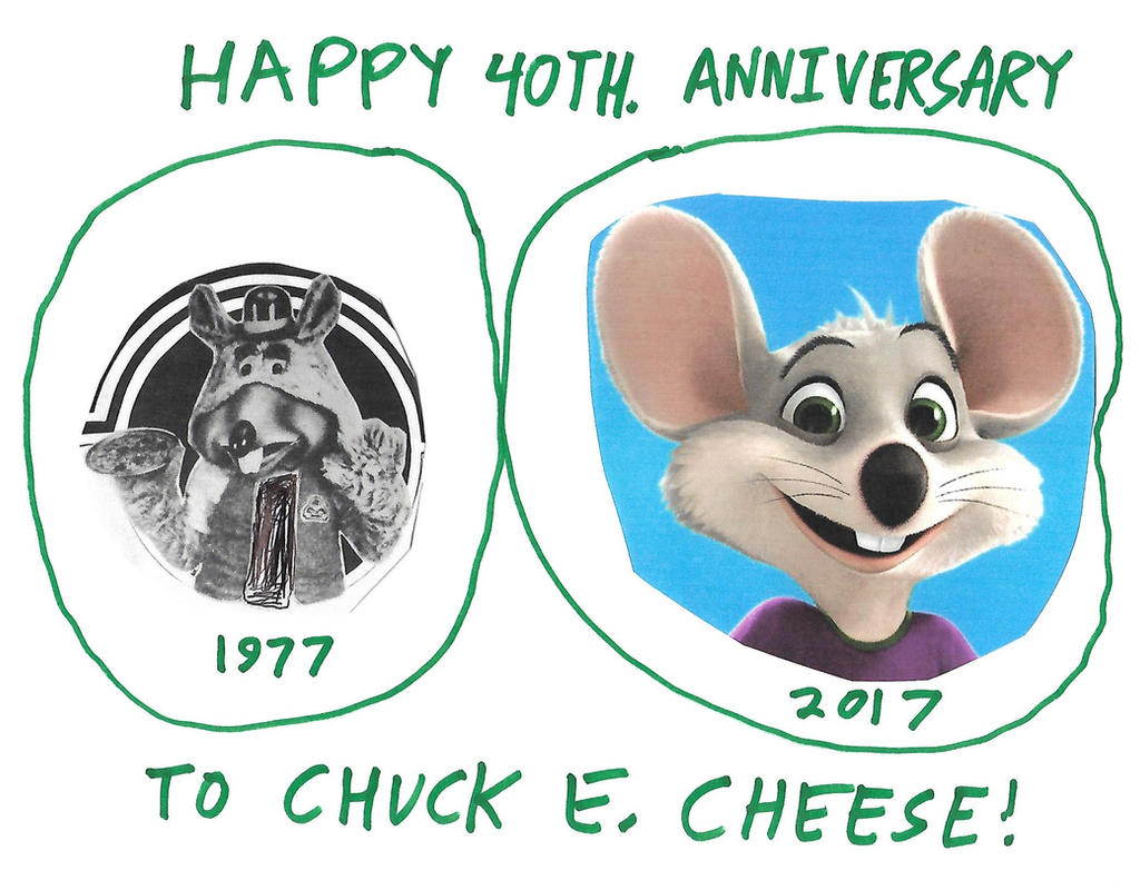 Happy 40th. Anniversary, Chuck E. Cheese by dth1971