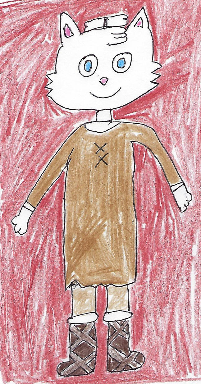 Wizard Cat dressed for the prehistoric ice age by dth1971