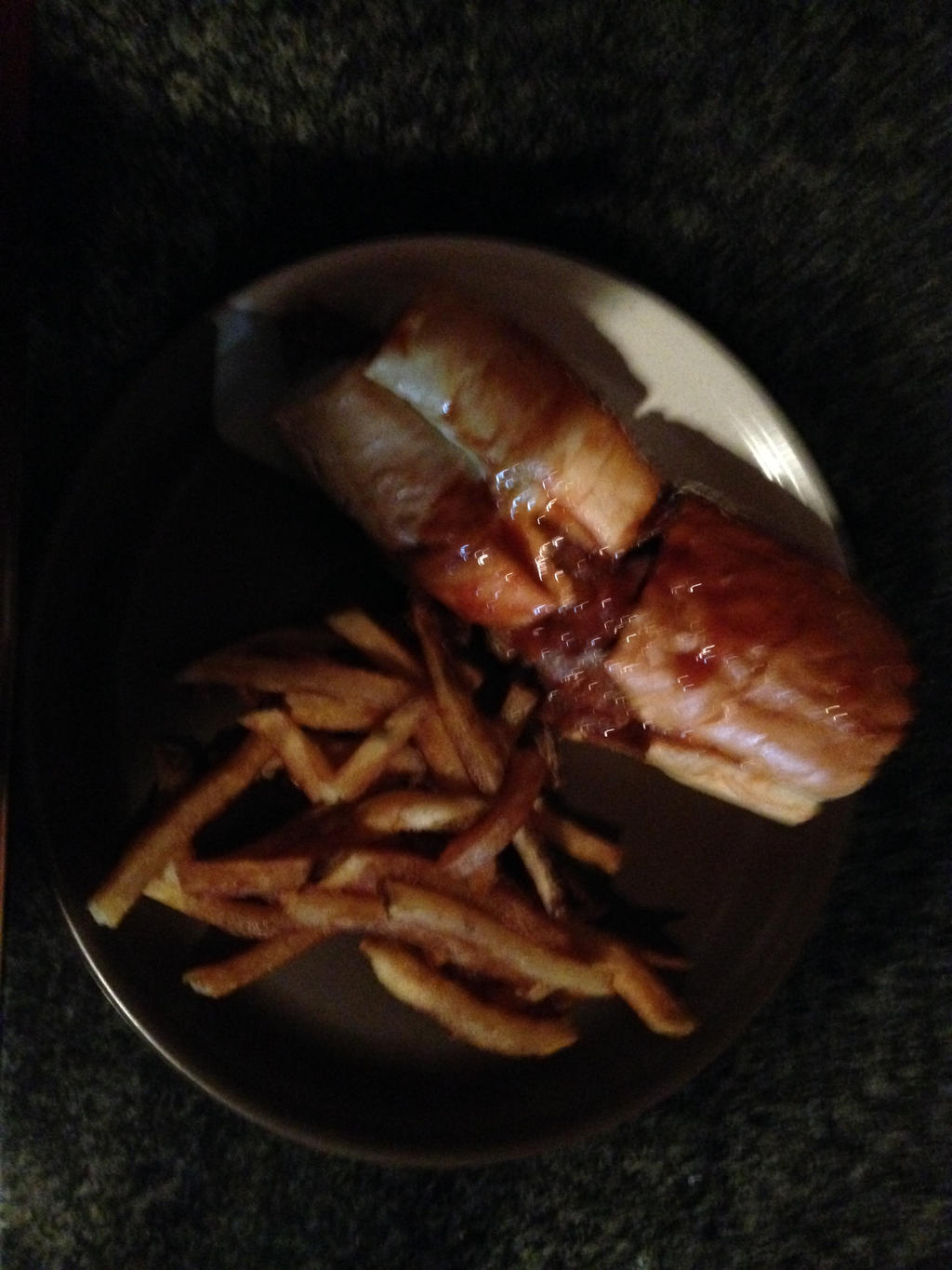 BBQ Italian Beef sandwich with french fries by dth1971