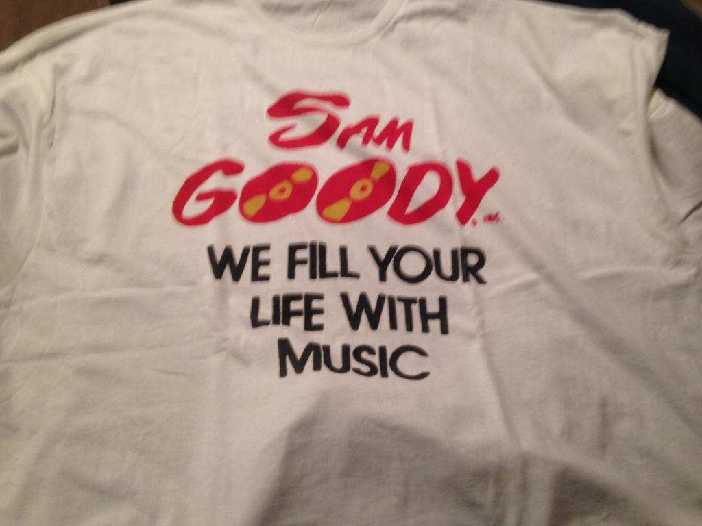 Sam Goody vintage logo T-shirt by dth1971