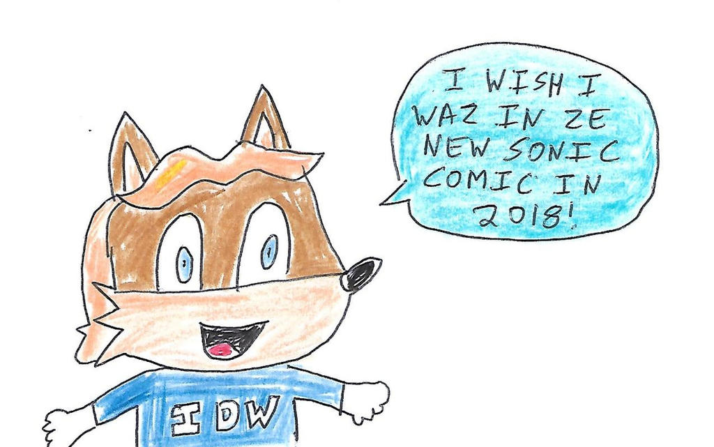 Antoine's Sonic comic book wish by dth1971