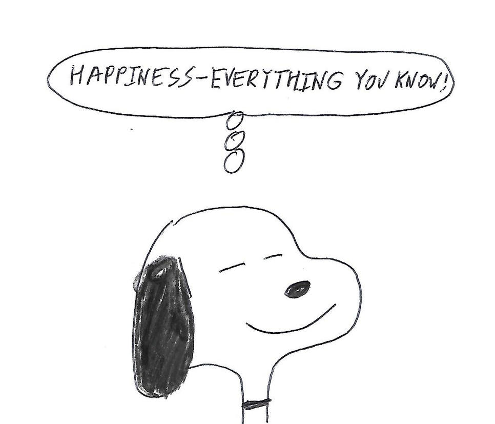 Snoopy - Happiness - Everything You Know by dth1971
