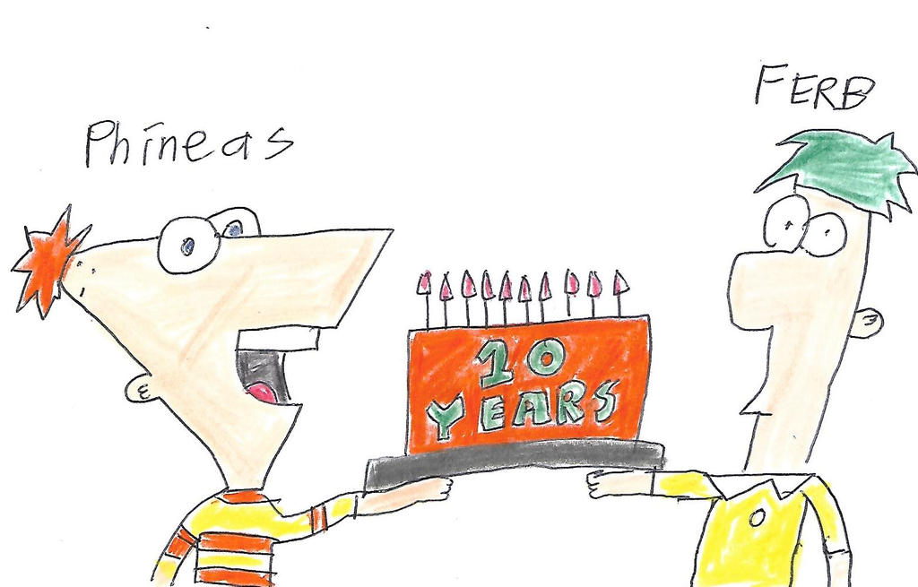 Phineas and Ferb 10 Years by dth1971