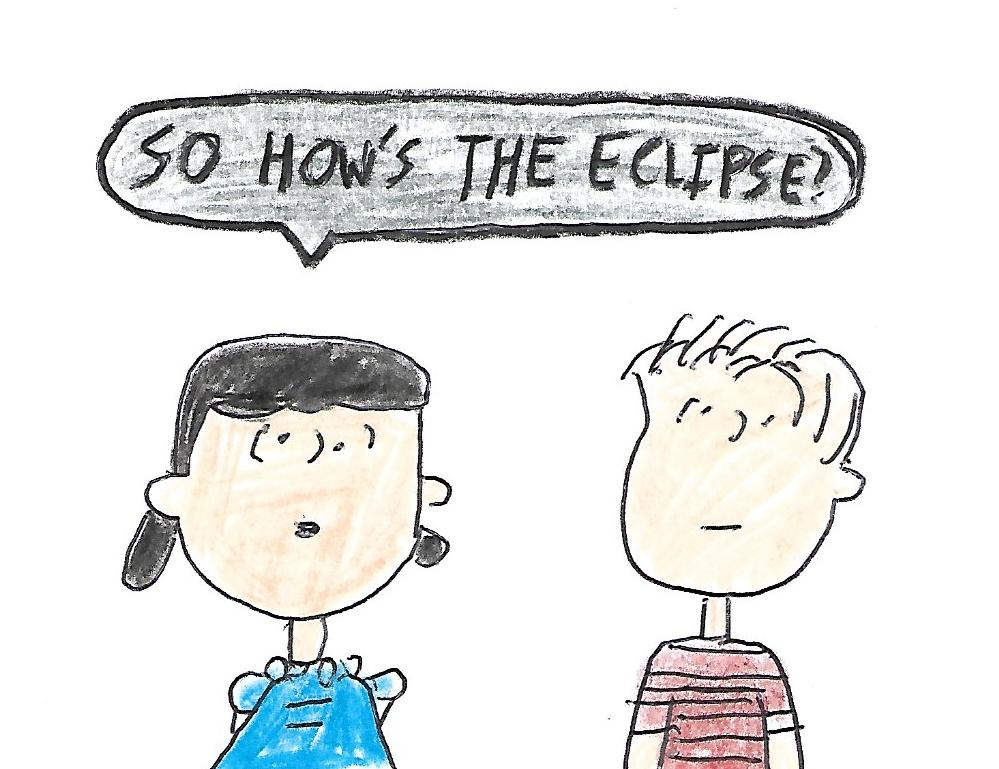 Linus and Lucy - So how's the eclipse by dth1971