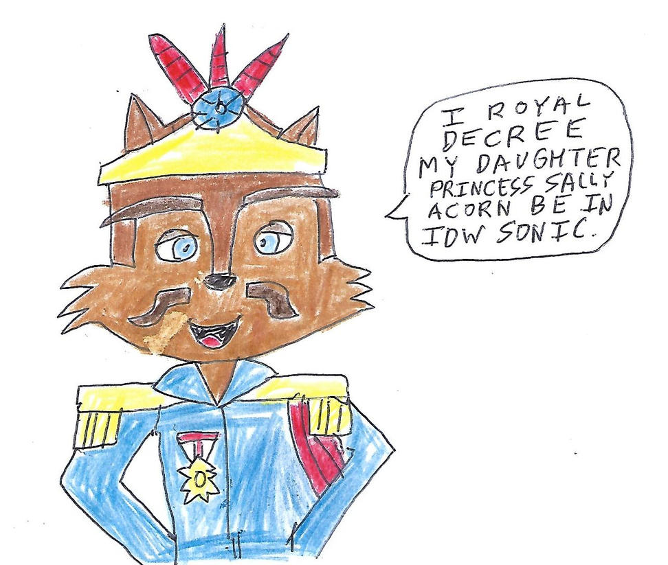 King Acorn's royal decree for Sally's IDW hope by dth1971