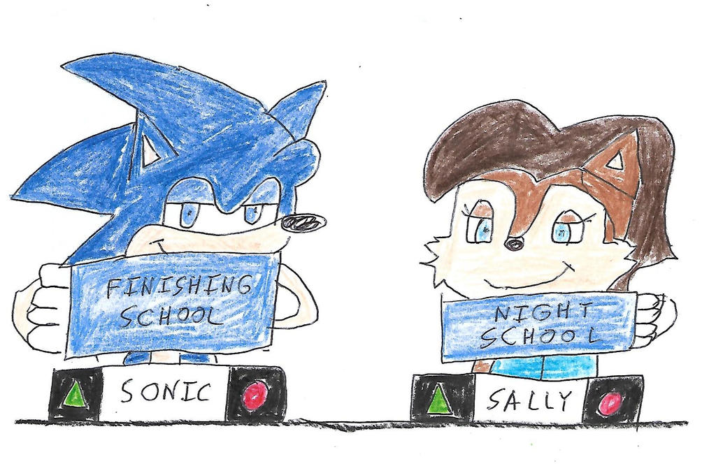 Sonic and Sally play Match Game by dth1971