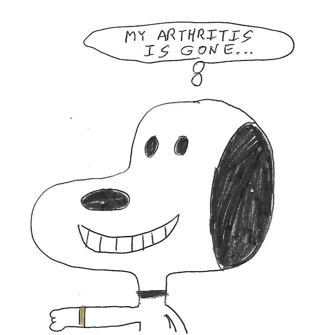 Snoopy wears a copper bracelet by dth1971